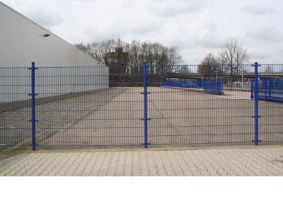 Dubbel staafmat hekwerk blauw 1