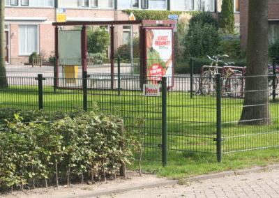 Dubbel staafmat hekwerk groen, parkje 1