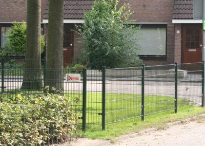 Dubbel staafmat hekwerk groen, parkje 2