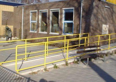 Hekwerk geel op voetplaten 1