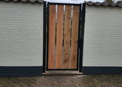 Openzicht houten poort