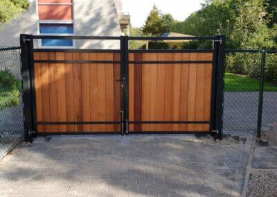 Red Cedar dubbele poort eenzijdig bekleed.